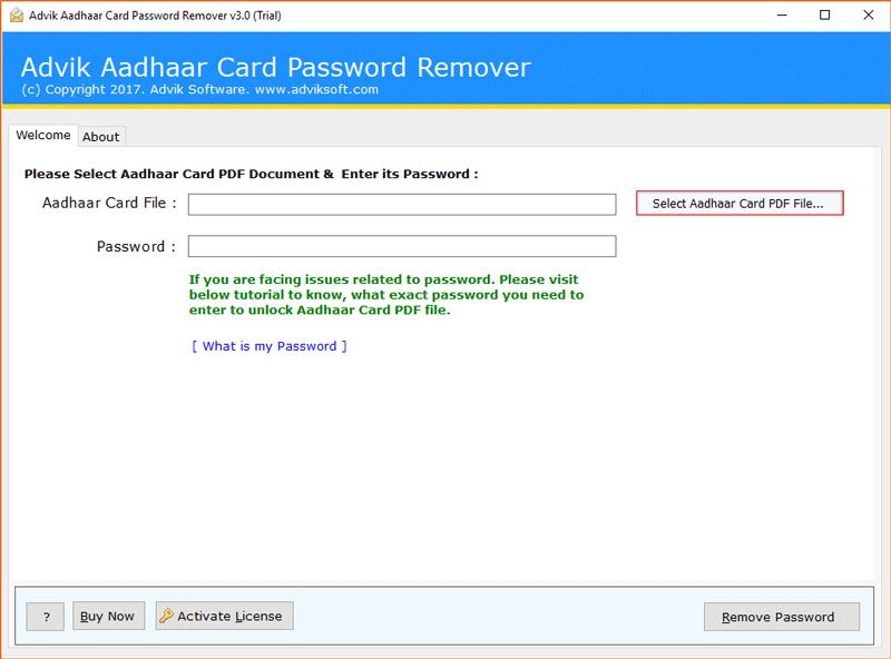 BitRecover Aadhaar Card Password Remover