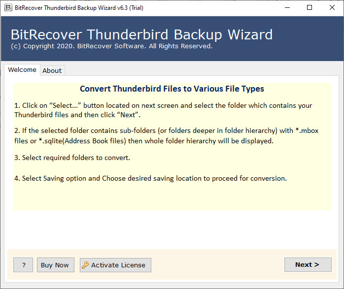hunderbird email backup Tool