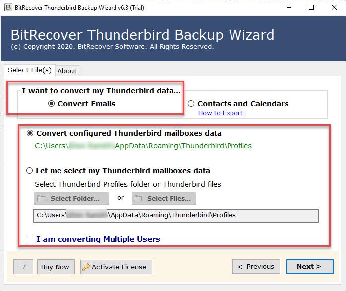 Thunderbird Folders