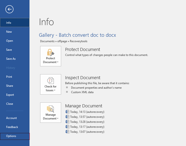 batch convert docx to pdf in word