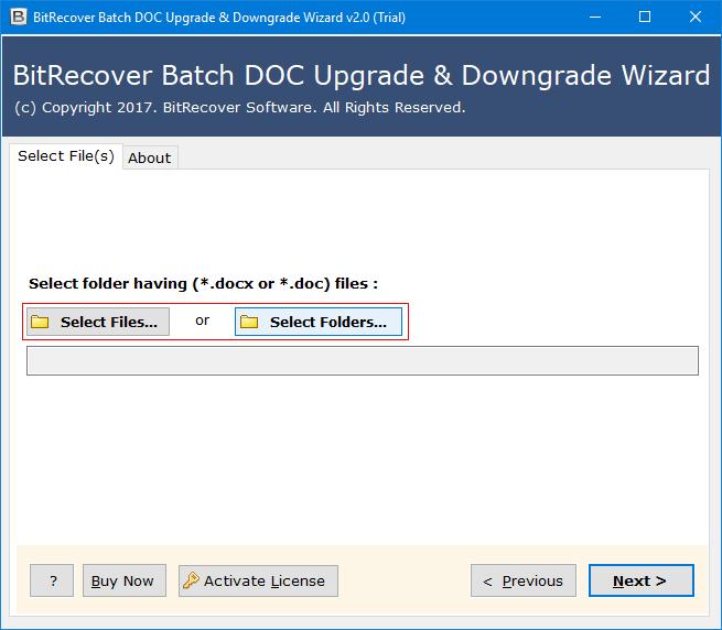 BitRecover Batch DOC Upgrade & Downgrade Wizard