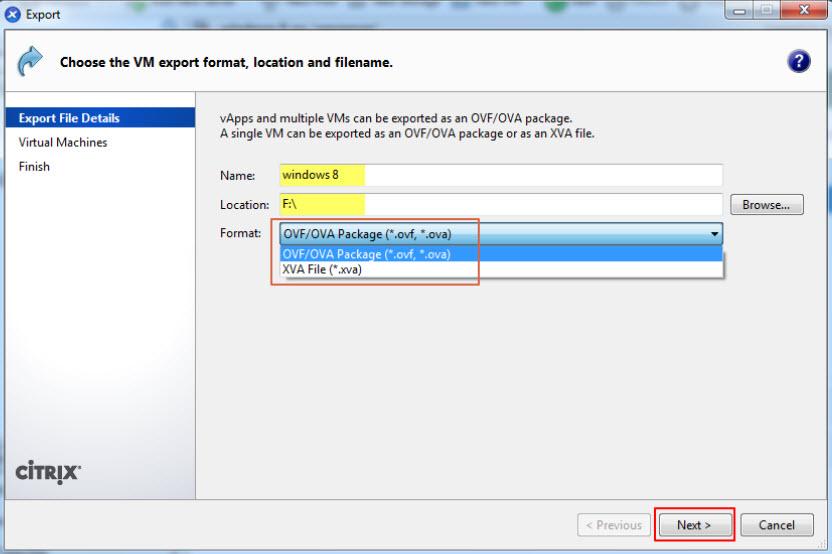 Citrix XenServer OVA, OVF, XVA, MGT, VHD, VMDK Format Explained