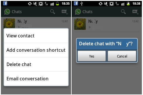 How to restore deleted whatsapp chat on android