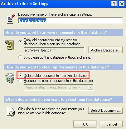 Delete Older Documents From This Database