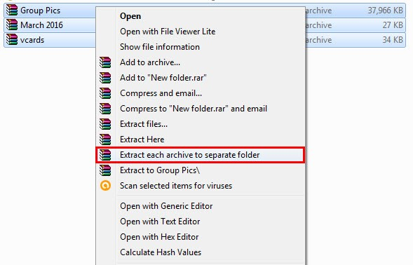 Extract Multiple RAR Files in One Click Explained Step-by-Step