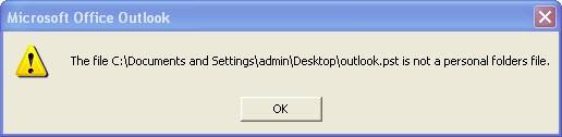 Error 1 screenshot