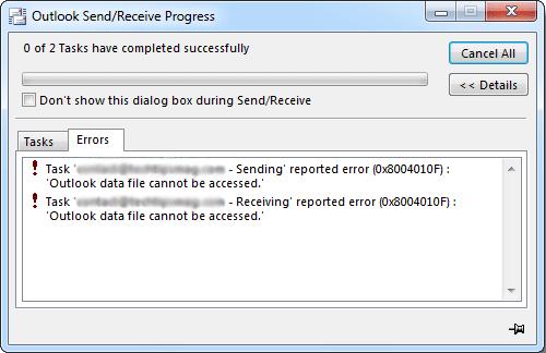 0x8004010F Error Fixed