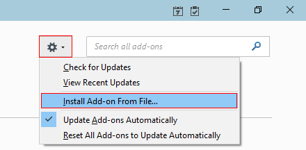Install Add-On from File…