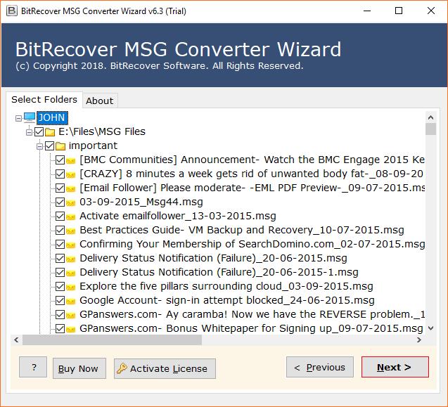 Choose MSG files
