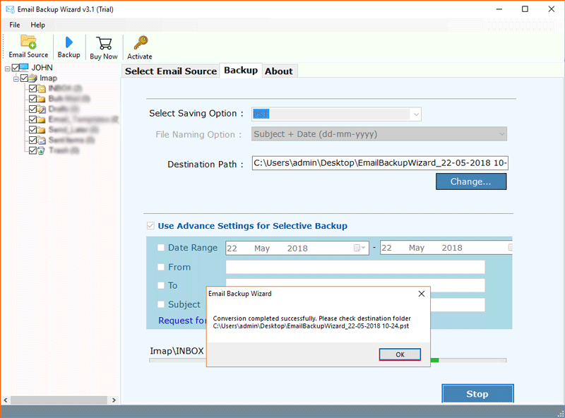 IMAP Mail Backup Tool to Save Emails from IMAP Server to