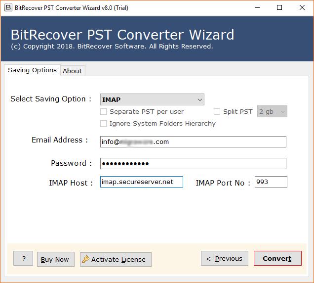 GoDaddy IMAP credentials