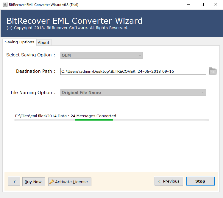 Convert EML to OLM