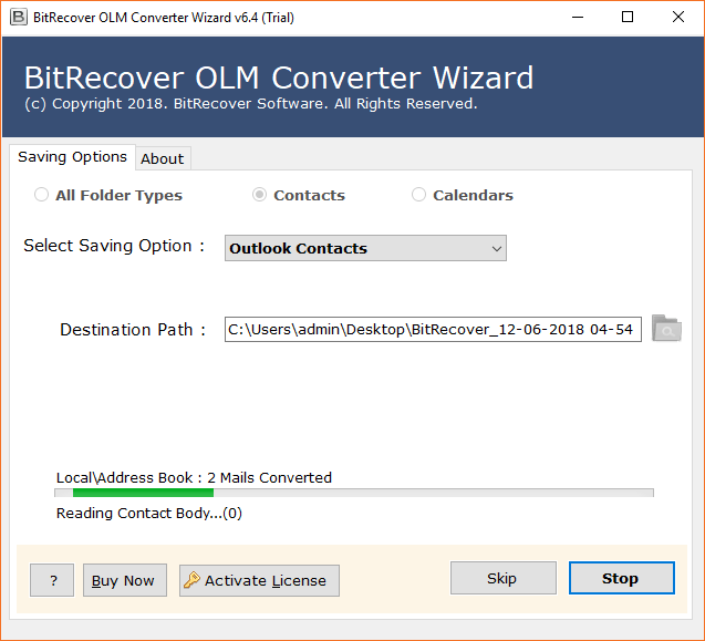 Convert OLM file to Excel