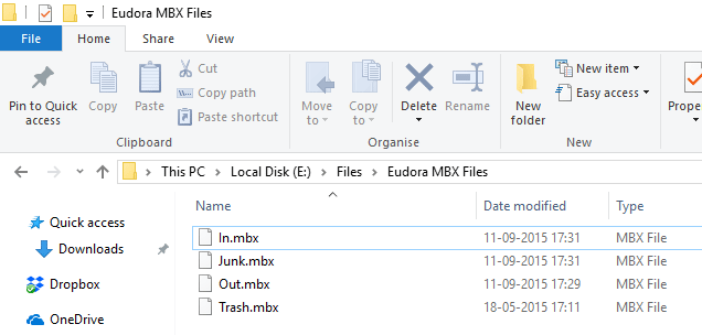 Eudora MBX files