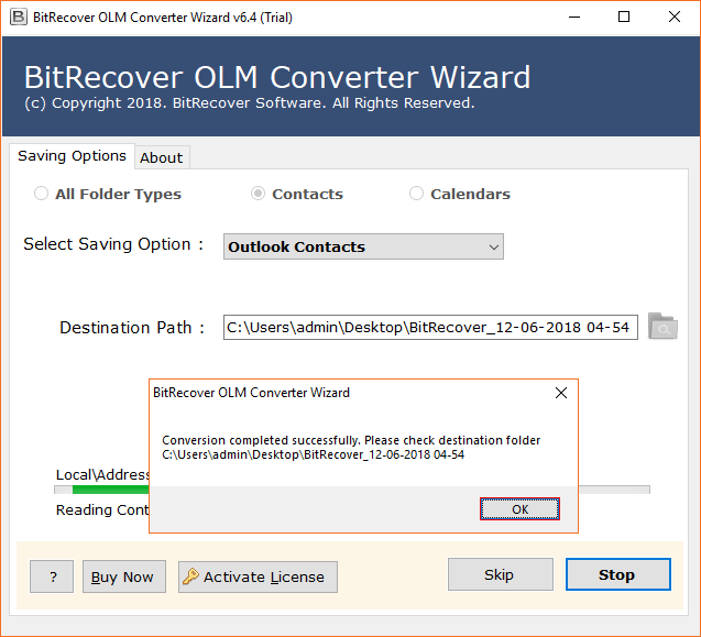 Export OLM to CSV