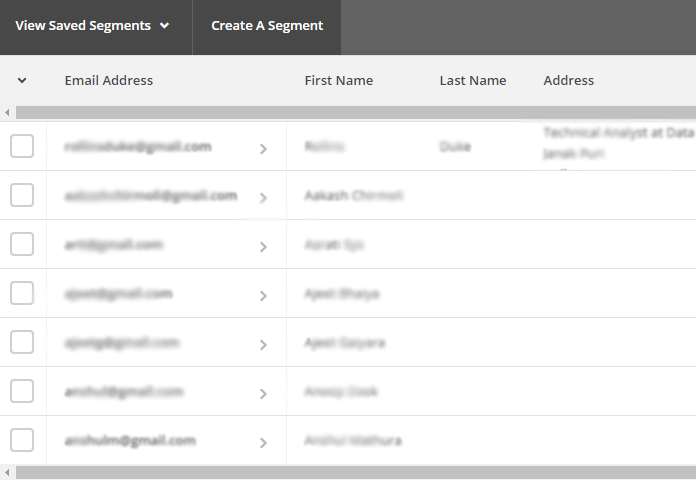 View LinkedIn contacts to MailChimp