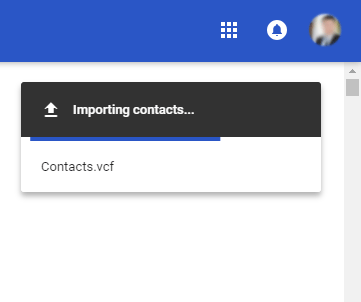 Import Android phone contacts to Gmail