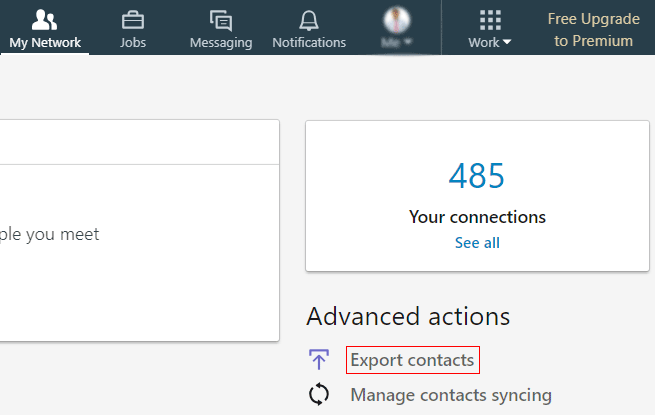 Download LinkedIn Contacts
