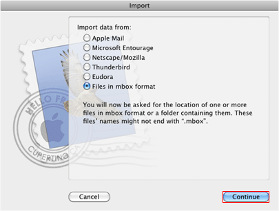 Apple Mail Import