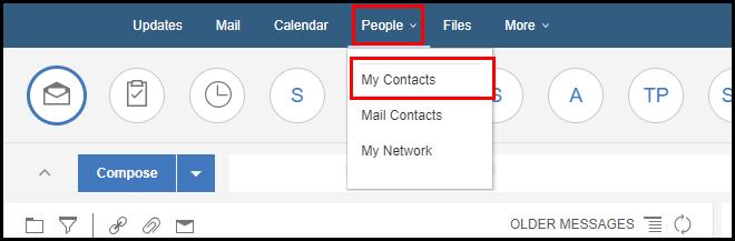 contacts option ibm-verse