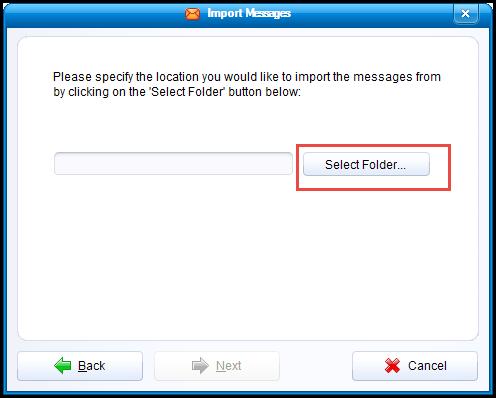 select eudora files for import