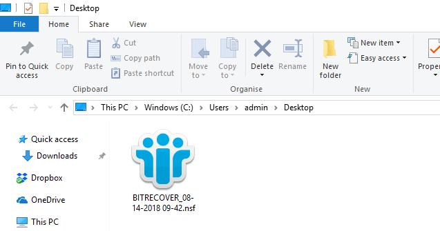 Resultant NSF file