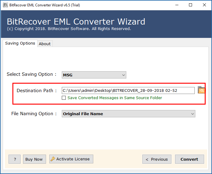 How to convert EML to MSG
