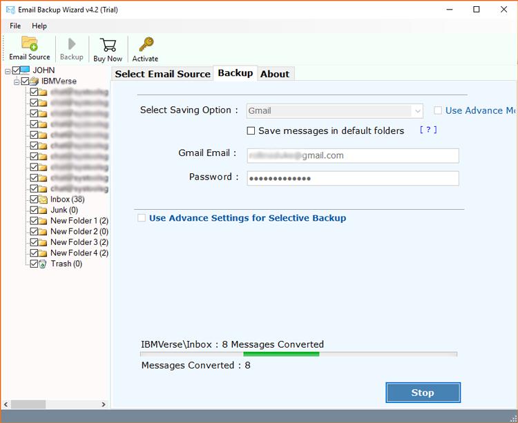 IBM Verse to Gmail migration
