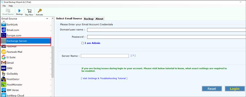 Choose Exchange Server