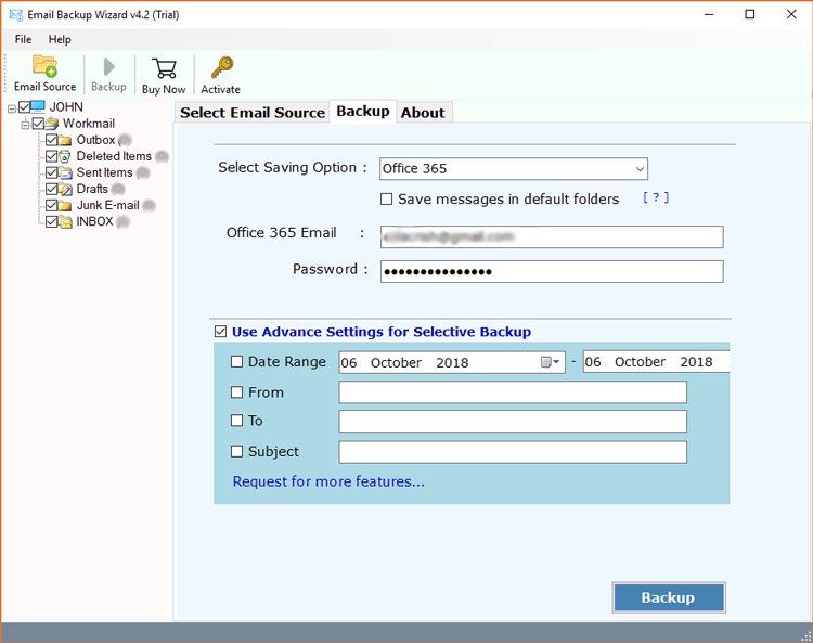 Office 365 account credentials