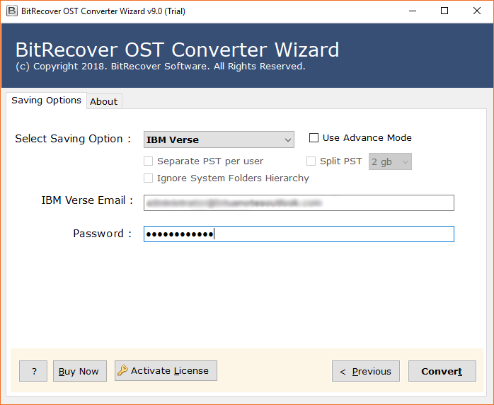 Outlook OST to IBM Verse Migration