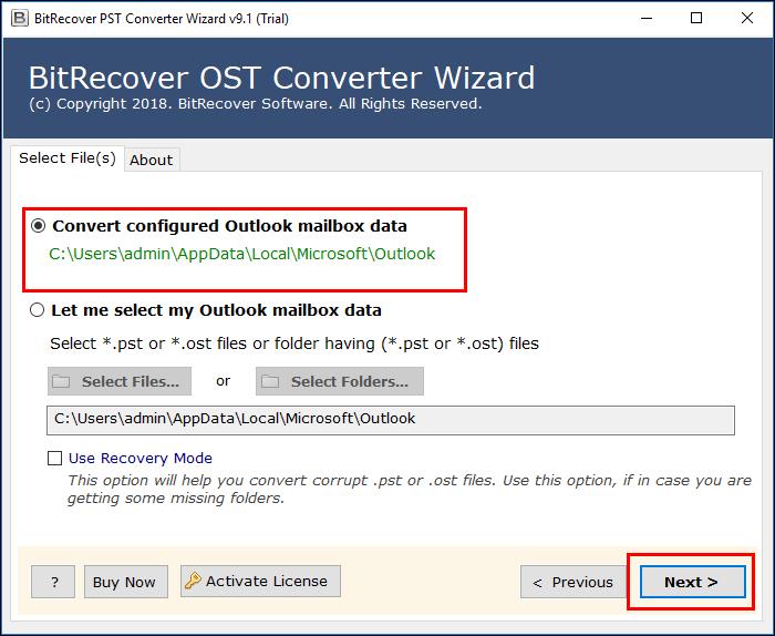 Outlook account configured