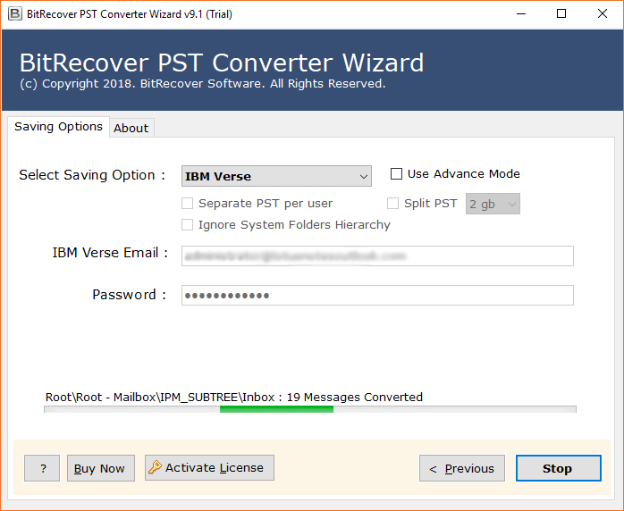 PST to IBM Verse conversion