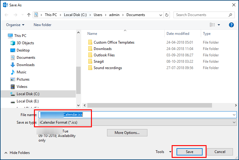 Import Outlook Calendar to Office 365 Account Manually and