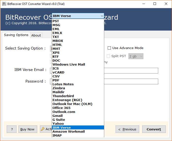OST to IBM Verse Converter to Import Outlook OST Files to