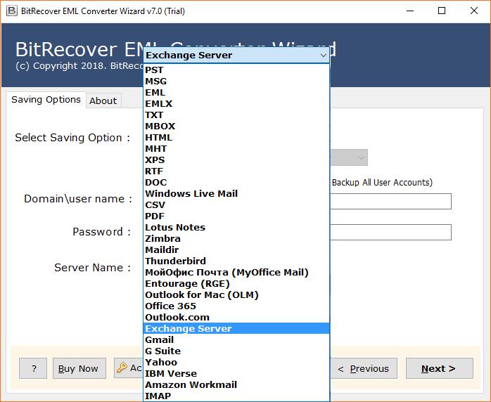 Select Exchange Server