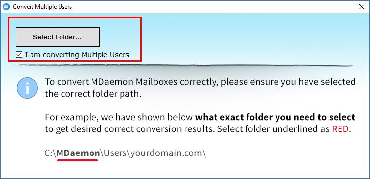 Choose Select Folder option