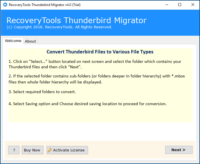 Import Thunderbird to Windows 10 Mail App – Get Professional
