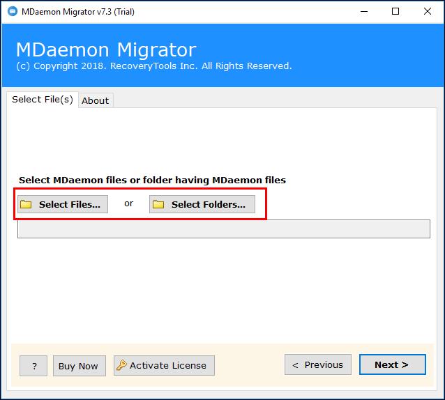 Upload MDaemon data files