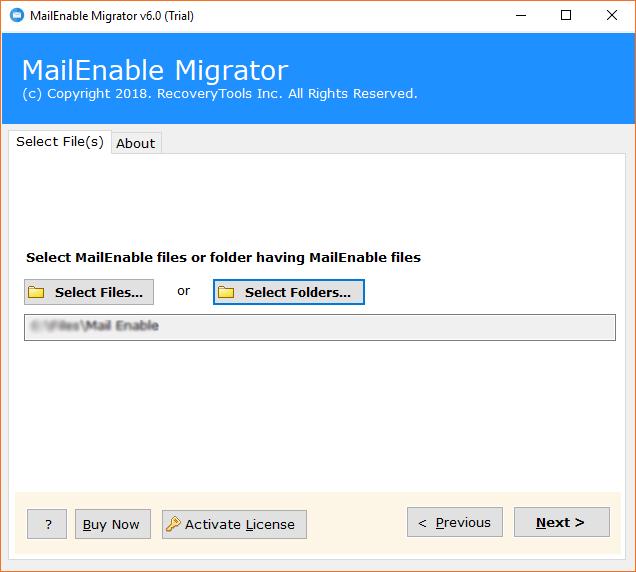 select mailenable folder