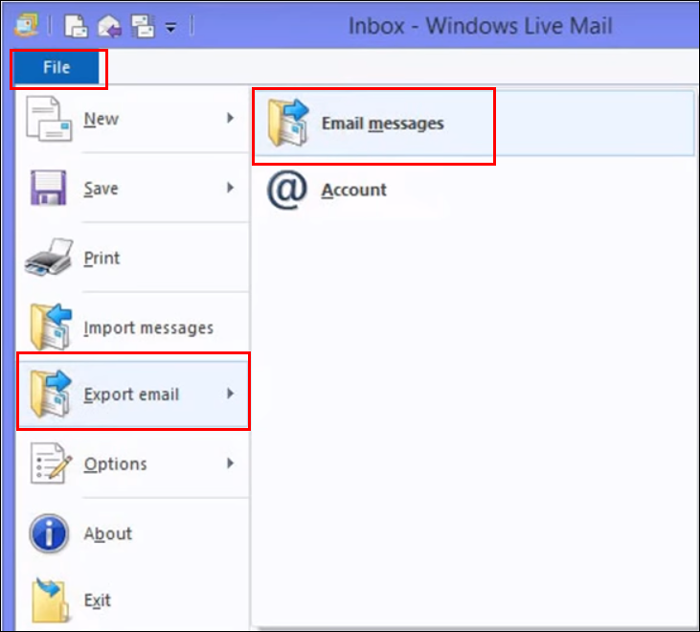 choose Email Messages