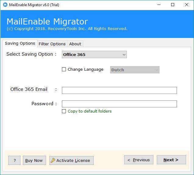 Choose Office 365 option