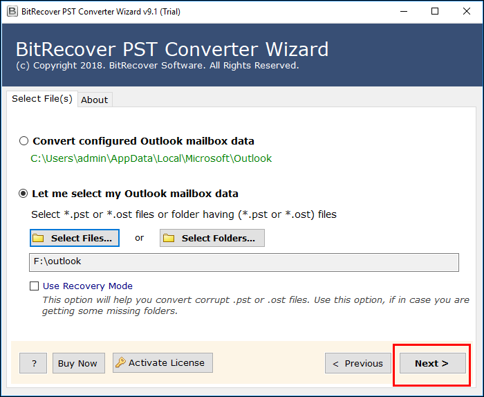 migrate Outlook to Live Exchange Server