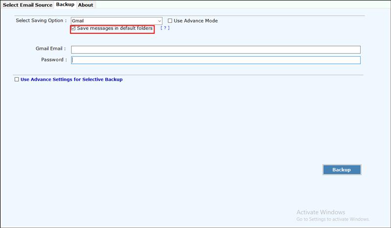 Save in default folder