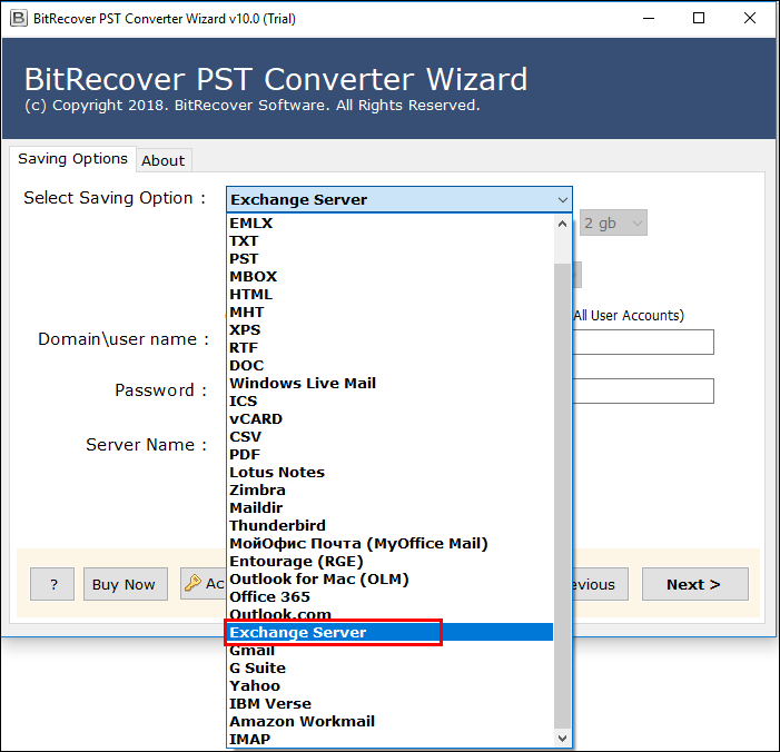 Migrate Outlook PST to Exchange Server Account – Get Direct