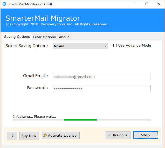 SmarterMail to Gmail migration