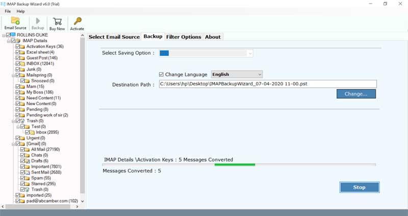 IMAP Mail Downloader