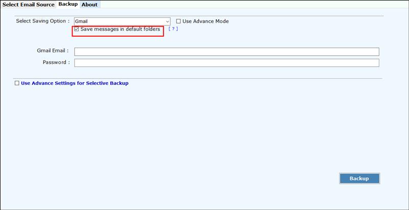 Save Messages in Default Folder