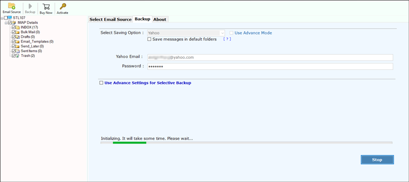 Export IMAP Server to Yahoo Mail