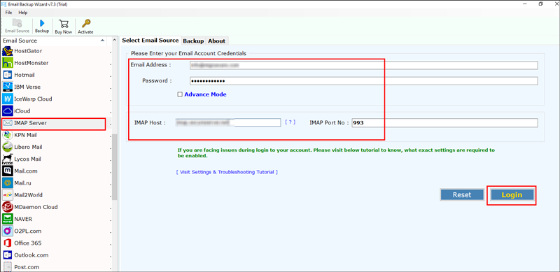 IMAP to Yahoo Converter